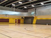 The gymnasium is located on the third floor of the fitness center.