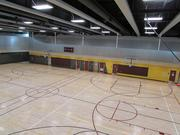 A view of the basketball court from the fourth floor of the Sun Devil Fitness Complex.