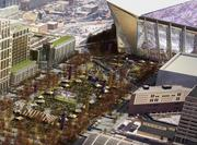 The Minnesota Vikings and stadium authority would like to continue using the plaza for game-day festivities, but the owners intend to let an agreement to do so lapse in October.