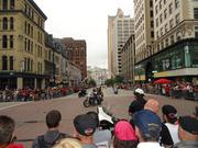 The parade is one of the highlights of Harley-Davidson's anniversary celebration.