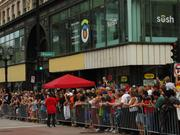 The streets in downtown Milwaukee were packed with spectators.