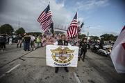 Harley riders participating in the parade came from all over the world.