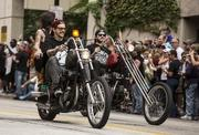 All kinds of motorcycles participated in the parade.