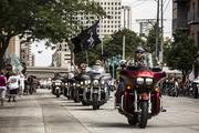Harley riders entered the 3rd Ward.
