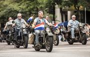 Some of Harley's classic motorcycles were featured in the parade.