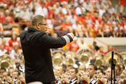 The OSU band is led by director Jon Waters.