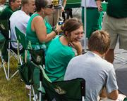 Charlotte 49ers fans enjoy their first chance to tailgate. The 49ers beat the Campbell Fighting Camels 52-7 in their inaugural football game at Jerry Richardson Stadium, on Aug. 31, 2013.
