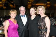 From left, Dianne McLaughlin, co-chair of the Overlake Medical Center Bandage Ball 2013; Craig Hendrickson, president and CEO of Overlake Medical Center; Brittany Barker, Overlake Medical Center Bandage Ball 2013 co-chair; Shirley Schumacher, Overlake Medical Center Bandage Ball 2013 co-chair. The event raised $1.1 million to support the planned David and Shelley Hovind Heart and Vascular Center, slated to open in the fall.