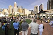 Charlotte's newest park is now open to the public. Romare Bearden Park opened over the Labor Day weekend in uptown's Third Ward, next to the baseball stadium under construction.