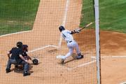 Charlotte Knights designated hitter Ravis Ishikawa swings away during the team's final game at Knights Stadium.