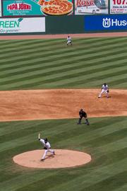 The Charlotte Knights host the Gwinnet Braves for the final game at Knights Stadium.