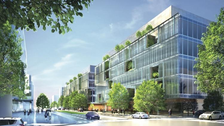 Alexandria Center, a seven-building development in Kendall Square that is slated to include a 386,000-square-foot space for Ariad Pharmaceuticals. The company's recent challenges have raised speculation that a pull-out from the project at 225 Binney St. is pending.
