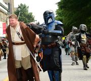 A Jedi Knight captured by a Mandalorian bounty hunter.