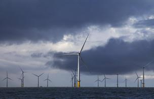 Maryland lawmakers have passed a bill that would create an offshore wind farm near Ocean City. Above, offshore wind turbines in the United Kingdom.