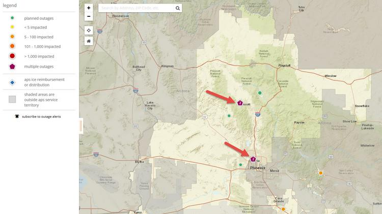 When The Power Goes Out Aps Outage Map Lights Up With Info