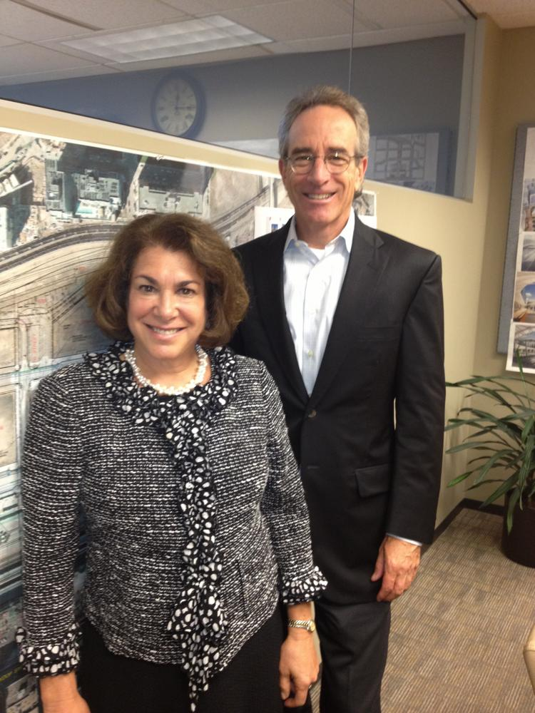 Ann Sperling and Bill Mosher of Trammell Crow Co. of Denver