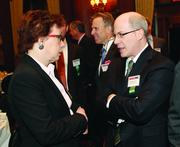 Gayle Tissue of Medical and Health Sciences Foundation and Jason Harrison of Hefren-Tillotson, Inc.
