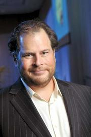 Salesforce.com CEO and Chairman Marc Benioff led the company when it was on the Fast 100 list in 2004 — and still does.