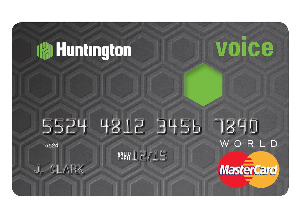 Huntington voice credit card gives customers a voice in their huntingtons new voice card gives customers options for rewards or lower apr b colourmoves