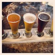 A flight of Brian Brewer's beers