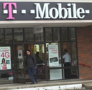 A T-Mobile store nearby the company's corporate headquarters in Bellevue, Wash.