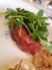 "Tuna tartare, from the ""Swimmers"" section of the menu"