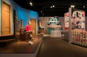 """Heinz History Center has the original set and some of the puppets on display from """"Mister Rogers' Neighborhood."""" It's the first time the set and puppets have been on display outside WQED's studios."""