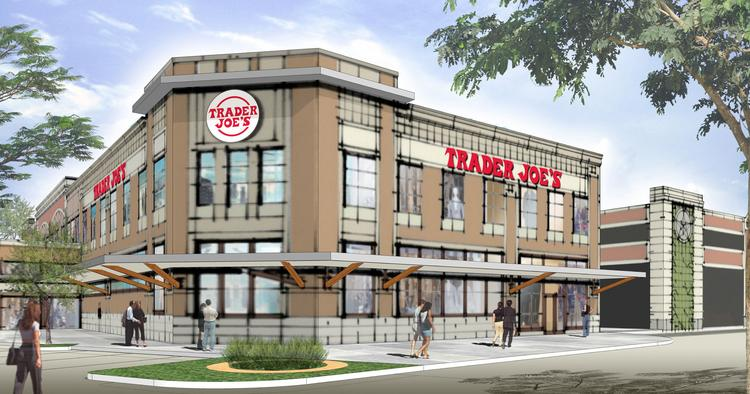 A rendering of Trader Joe's Katy location in LaCenterra at Cinco Ranch. The 12,500-square-foot store will open in 2014.