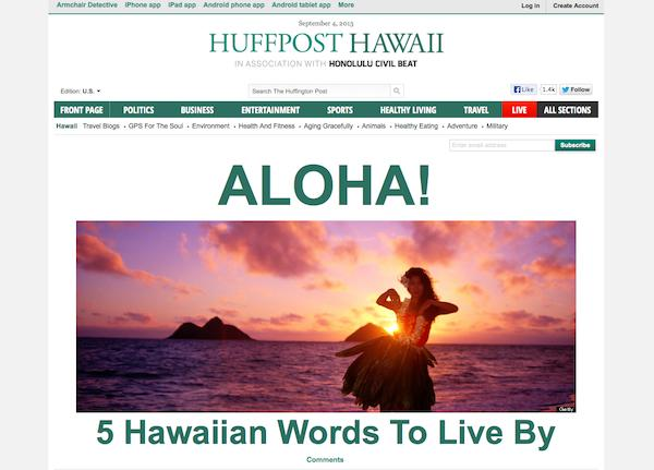 Huffington Post founder Arianna Huffington and eBay founder Pierre Omidyar launched the HuffPost Hawaii website on Wednesday,