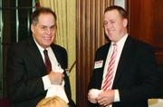 David Breen, left, of Breen Law Firm LLC and Bruce Goodman of Farmers National Bank.