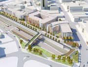 East Liberty Transit Center, a $52 million project for 366 apartments and 50,000 square feet of retail along with a 595-space parking garage hubbed around a bus station that sees 800 routes per day. The developer is Mosites Co.