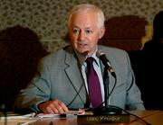 Washington State Insurance Commissioner Mike Kreidler speaks before the Washington Health Benefit Exchange Board at its meeting Wednesday, where the board approved additional insurance options for the exchange.