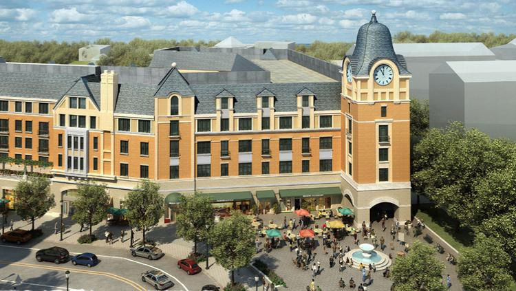 The Barnes & Noble at Catholic University will move into the Cornerstone building of the Monroe Street Market development.