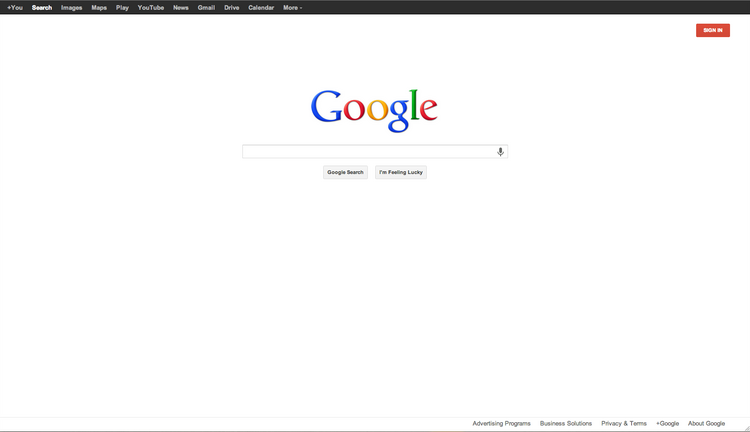Here's what Google.com looks like today. Click through to see what it looked like in 1998.