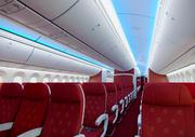 The economy cabin on Hainan Airlines' new Dreamliner.