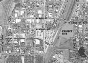 A aerial view submitted to Littleton officials shows the proposed location of the Broadstone at Littleton Station complex.