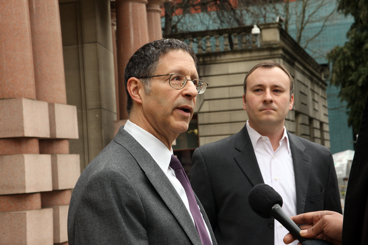 John DiLorenzo and Kent Craford are promoting a Portland initiative to wrestle control of water and sewer rates away from City Hall.