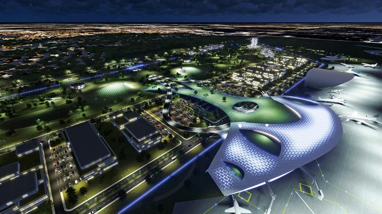 The Houston Airport System unveiled the first renderings of the proposed Ellington spaceport. Click on this image to see more renderings.
