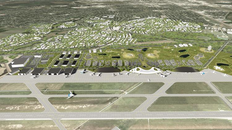 The Houston Airport System unveiled the first renderings of the proposed Ellington spaceport.  Click through the slideshow to see more renderings of the proposed spaceport.