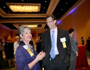 Gail Kroll and Alan Burcore of Finfrock network before the start of the awards event.