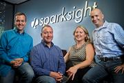 From left: Chris Justice, Leading Reach president and chief technology officer; T. Kelly Shores, Sparksight president; Katie McKown, Sparksight general manager; and Curtis Gattis, CEO of both companies.