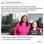 Columbus Foundation among first nonprofits to test Facebook 'donate' button on posts