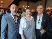 (From left): Coppa Osteria co-owner Grant Cooper, executive chef Brandi Key and co-owner Charles Clark at the restaurant's preview party Sept. 4