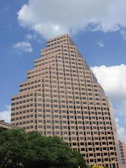 One Congress Plaza on Congress Avenue in downtown Austin is among the pricier office addresses in the country, according to new data released by Jones Lang LaSalle.