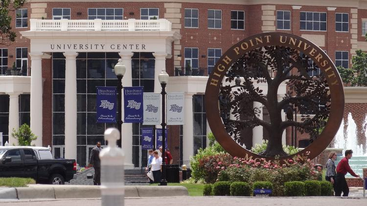 The campus of High Point University