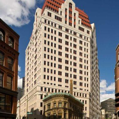 Cornerstone Real Estate Advisers paid $110,8 million for 99 Summer St. in Boston's Financial District.