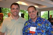 Zac Culbertson of Root & Stem, left, with Rob Minney of The Bechtel Conference Center.