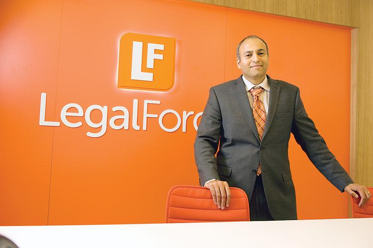Raj Abhyanker, founder and CEO of  Palo Alto-based LegalForce, has tripled his staff during the past three years.