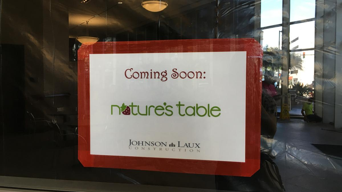 Nature S Table Opening In Downtown Orlando S Regions Tower