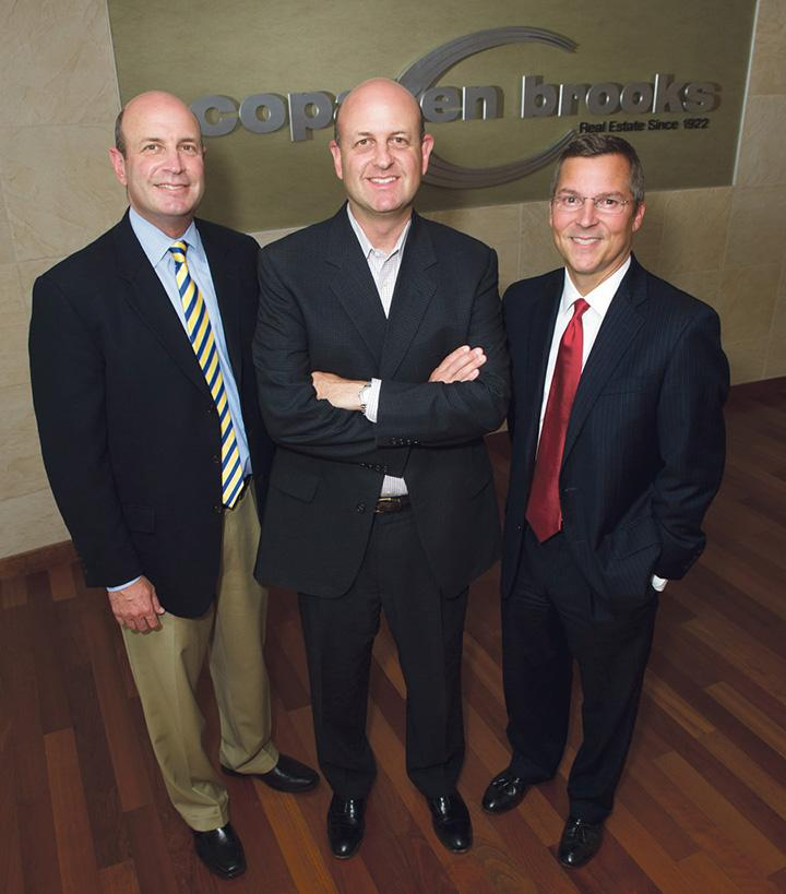 The co-owners of Copaken Brooks are Keith Copaken (from left), Jon Copaken and Bucky Brooks.